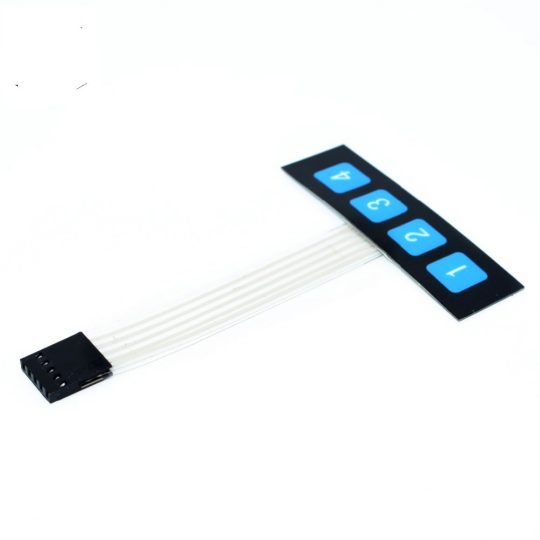 1 x 4 key matrix membrane switch keypad